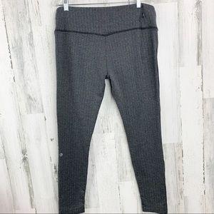 MPG Black And Gray Herringbone Leggings